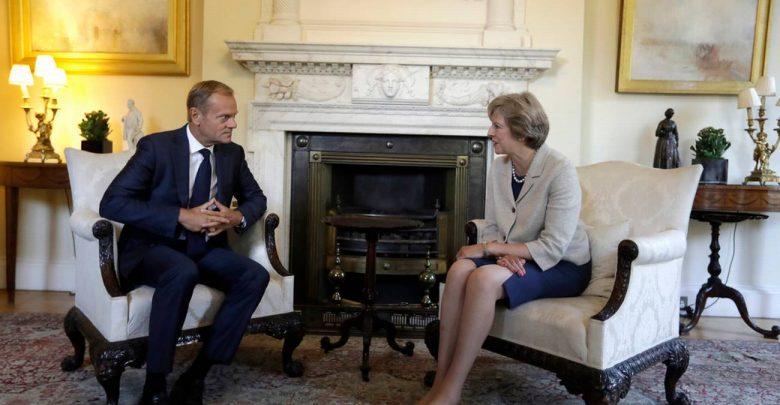 Donald Tusk Theresa May