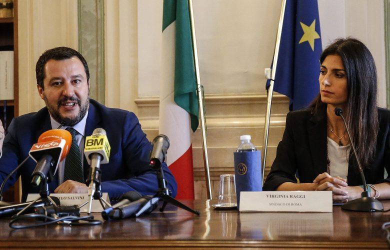 Matteo Salvini Virginia Raggi