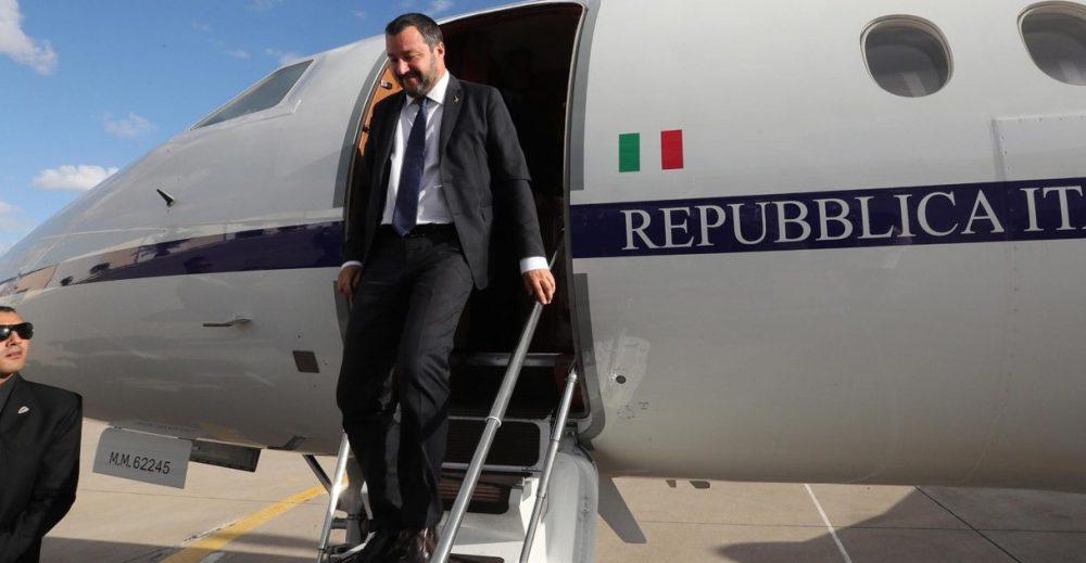 I voli di Stato di Salvini e degli altri ministri del governo gialloverde