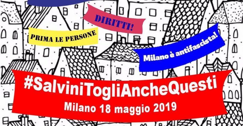 #Salvinitoglianchequesti: sui social parte la sfida degli striscioni
