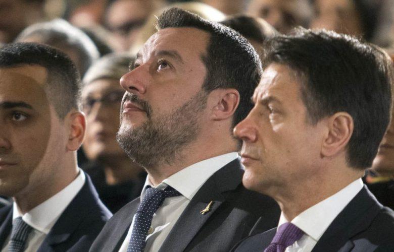 Conte, Salvini e Di Maio uniti contro l'Ue