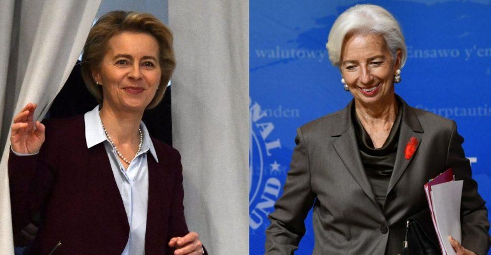 Von der Leyen e Lagarde