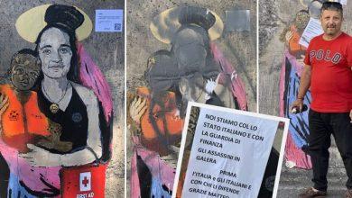 Photo of Il murale di Carola Rackete oscurato dall'avvocato leghista: «Noi stiamo con lo Stato Italiano»
