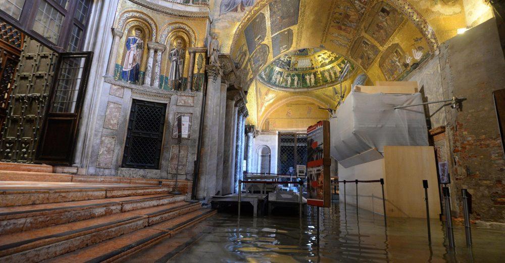 Da Venezia a Matera: a rischio alluvione oltre 67mila beni culturali