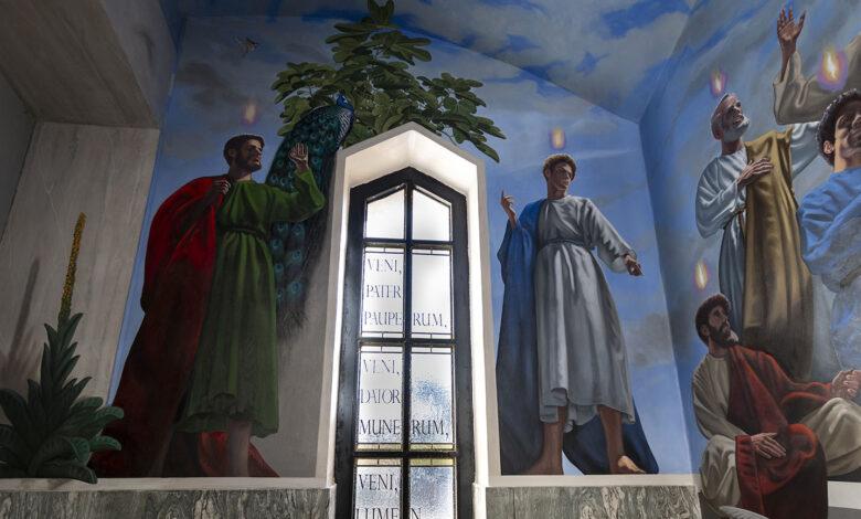 Photo of Rodolfo Papa e l'innovazione dell'iconografia cristiana nella Cappella del Perdono
